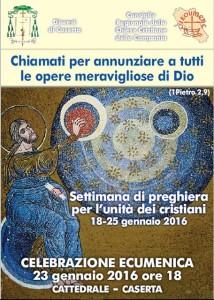 Volantino settimana di preghiera Caserta